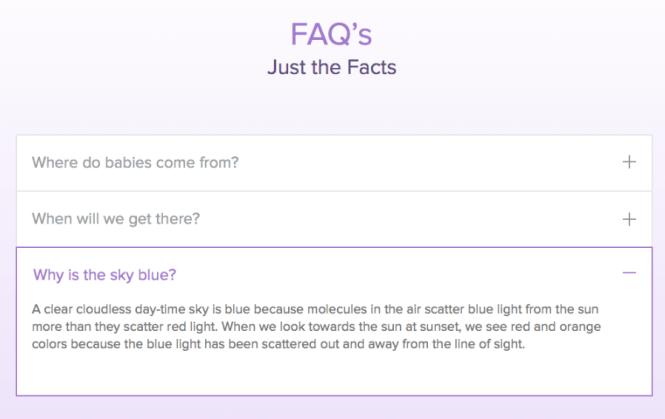 Exemple de page FAQ