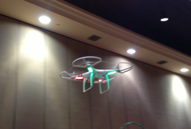Blurry iPhone picture of DJI Phantom Quadcopter