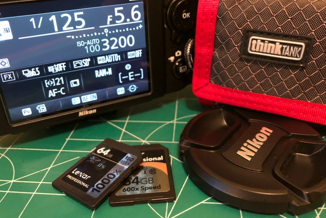 Nikon D750 DSLR with Lexar 64GB SDXC Cards