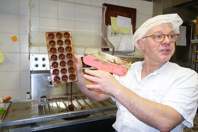 Chocolatier making best candies