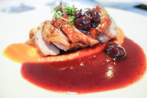 Duck breast port cherry sauce