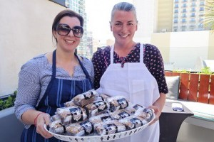 Chef Jojo Rossi and Melissa serve sweet treats