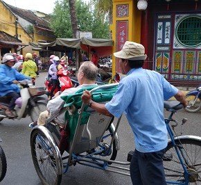 Rickshaw rides and massages in Hoi An, Vietnam