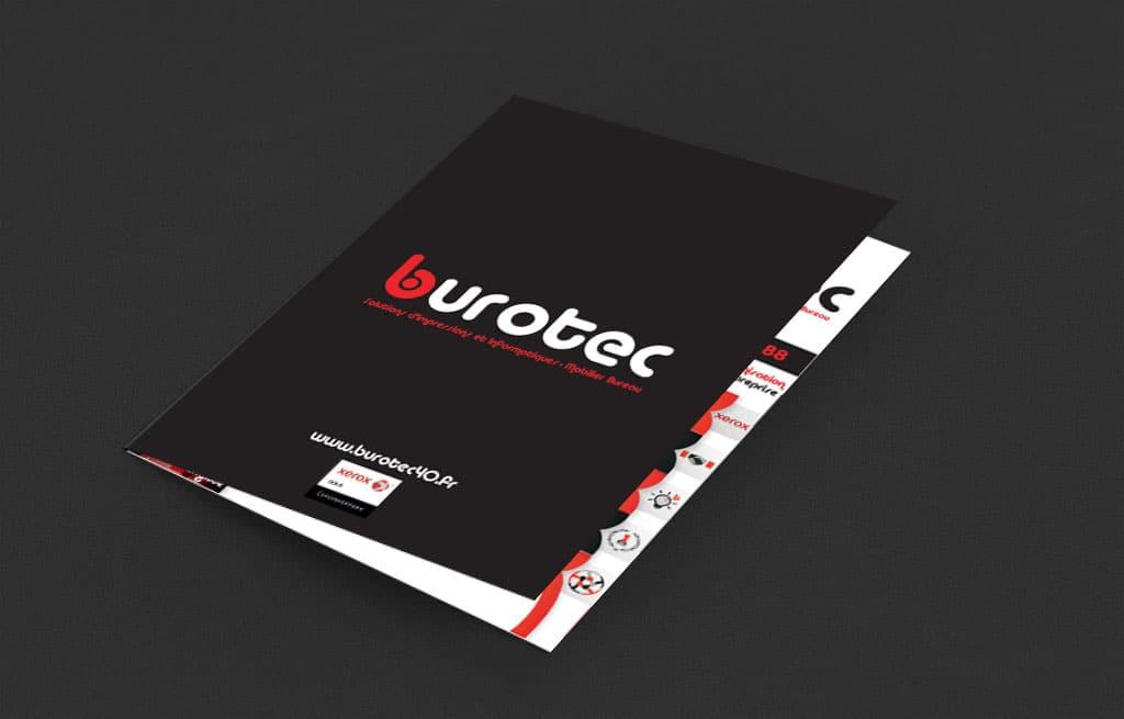 Réalisation et création de la plaquette commerciale Burotec40