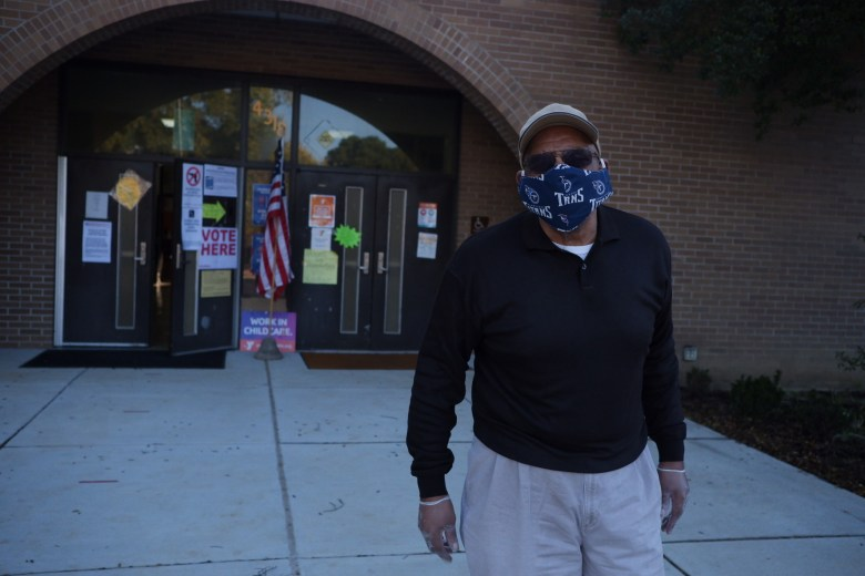 Sam Baker, 62, voted at Whitehaven Community Center in Memphis, Tenn., on Election Day, Nov. 3, 2020.