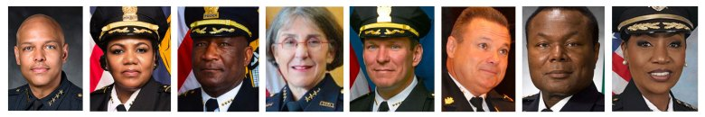 Head shots of Memphis Police Department director candidates.