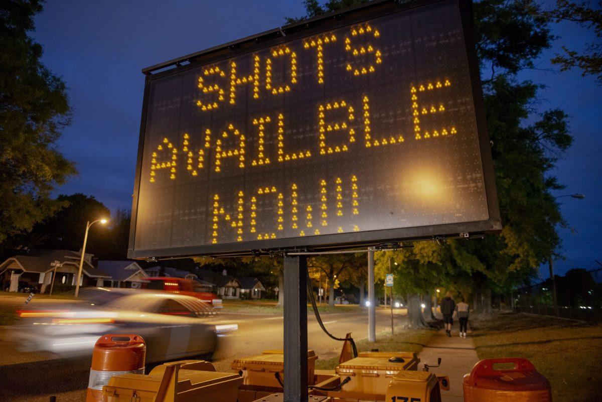 Community vaccination site in Memphis.