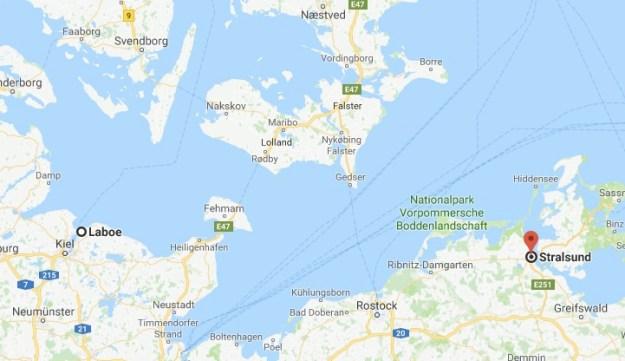 Route to Stralsund