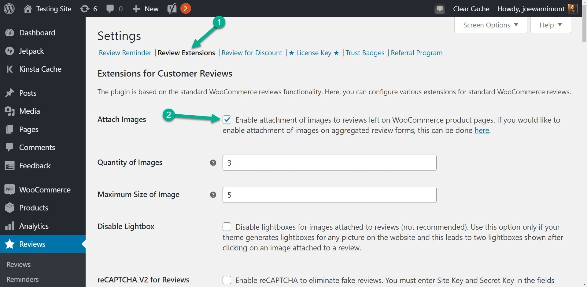 review extensions and attach images on customer reviews for WooCommerce