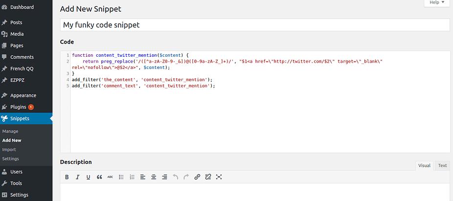 WordPress的代碼片段