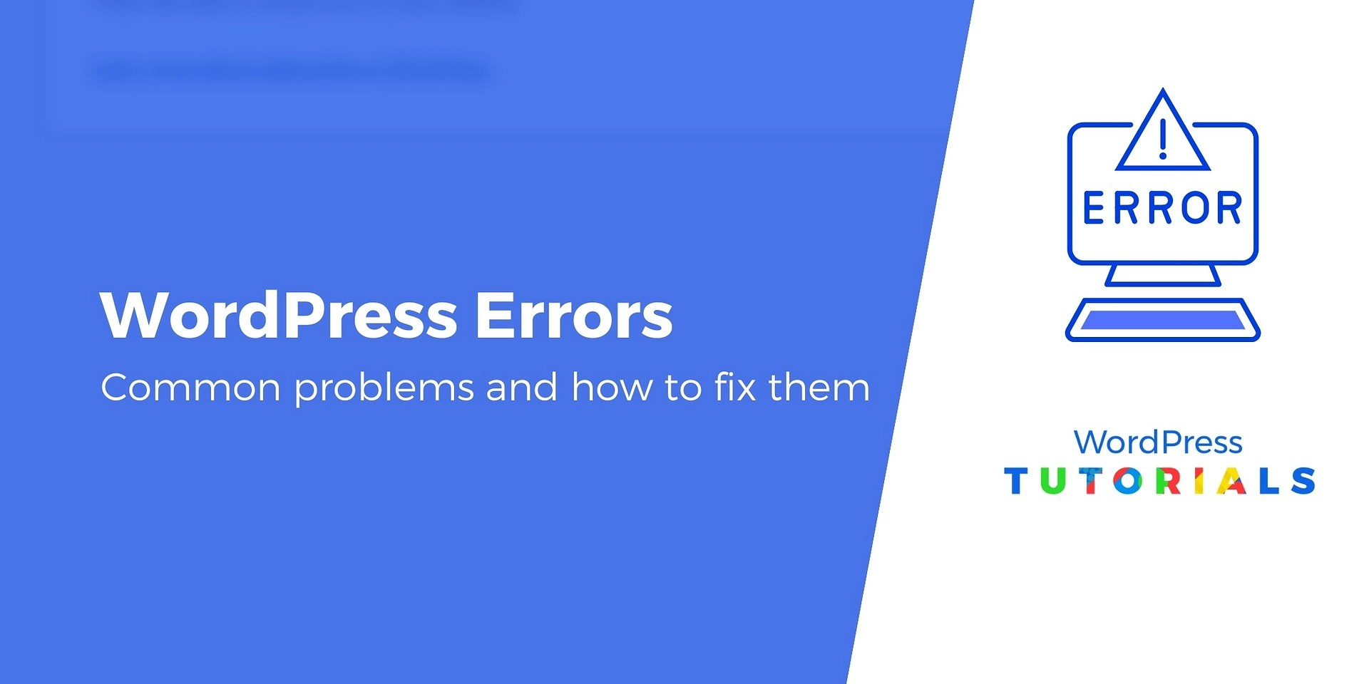 20 Common WordPress Errors and How to Fix Them
