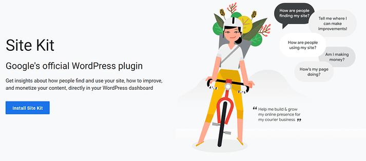 The Google Site Kit for WordPress plugin.