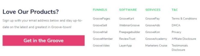 GrooveFunnels produits