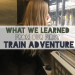What we Learned from our First Train Adventure