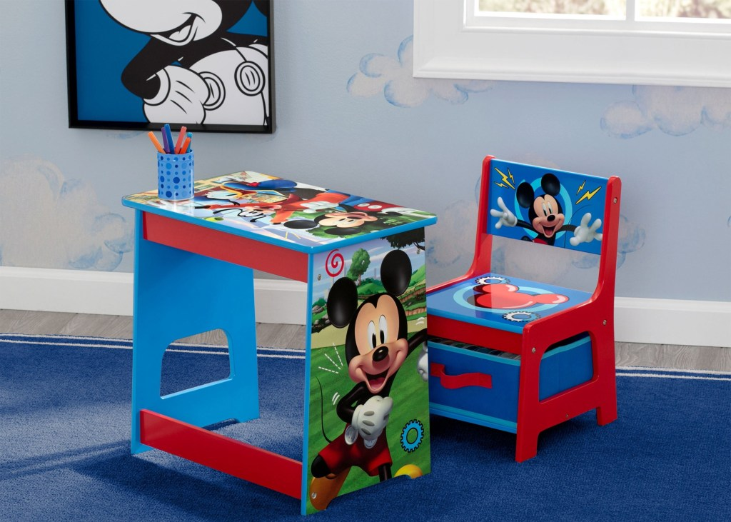 Meja Belajar Mini Set Kursi Micky Mouse