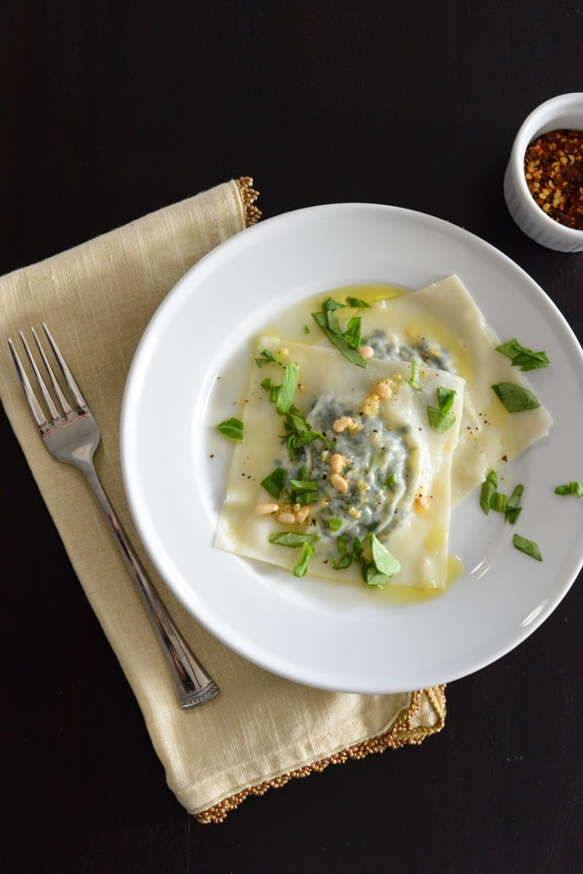 arugula and goat cheese ravioli