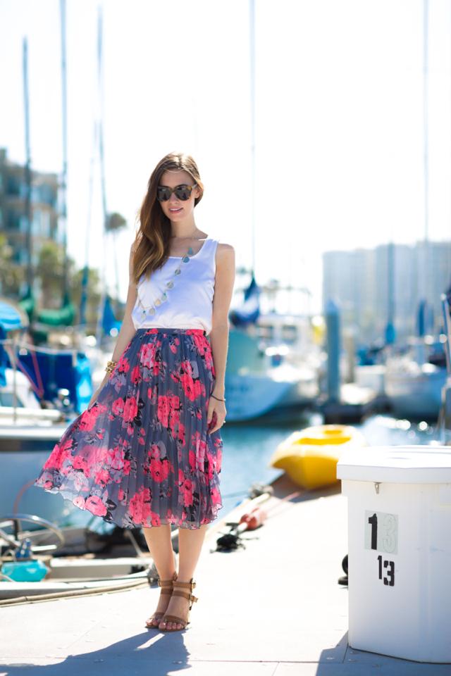floral midi skirt, M Loves M