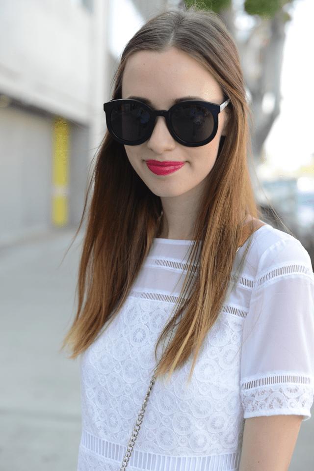 black Karen Walker sunglasses, M Loves M