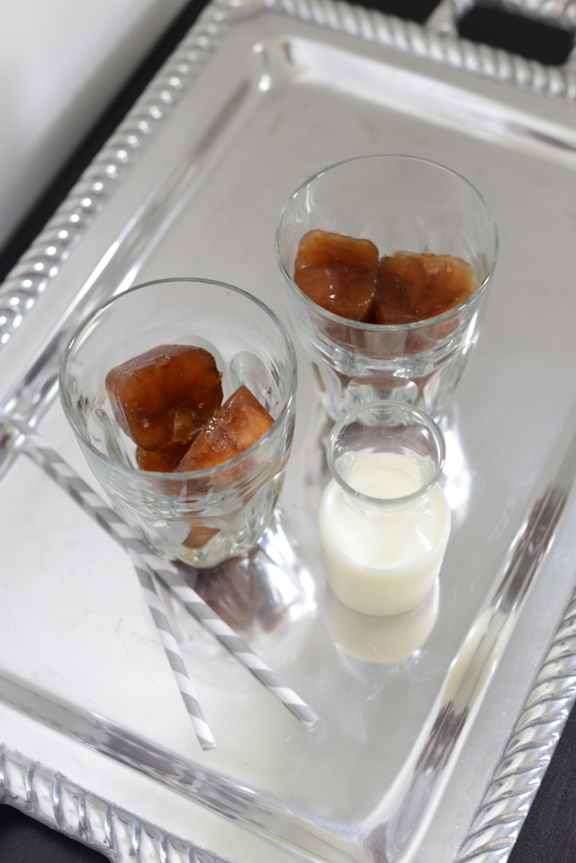 coffee ice cubes with milk, M Loves M