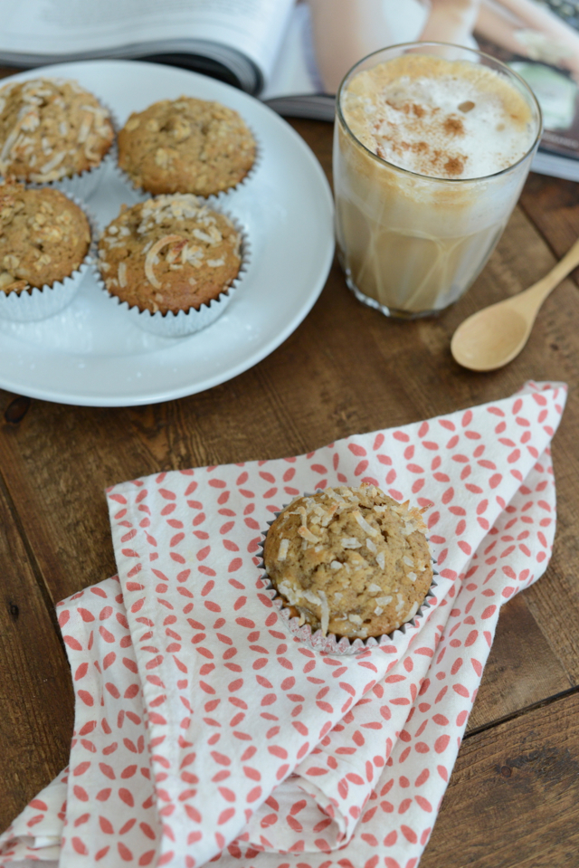 banana and coconut muffin recipe via M Loves M @marmar