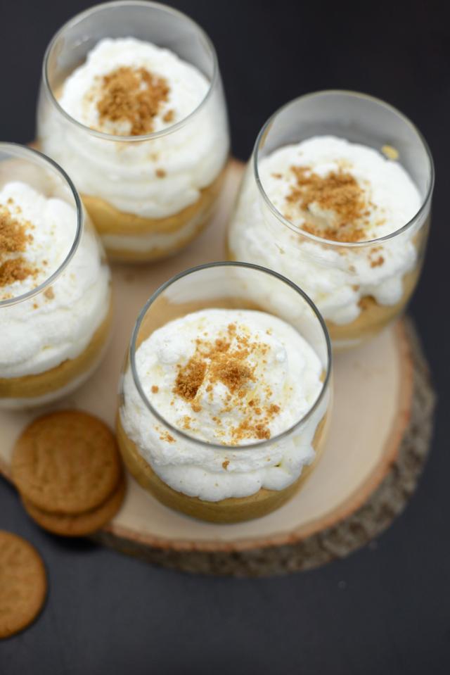 pumpkin pie trifles via M Loves M. An easy fall dessert. @marmar