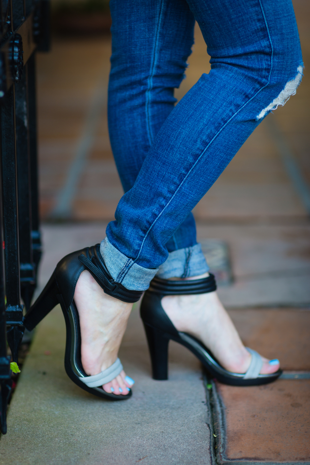 james jeans distressed jeans and tsubo sandals via M Loves M @marmar