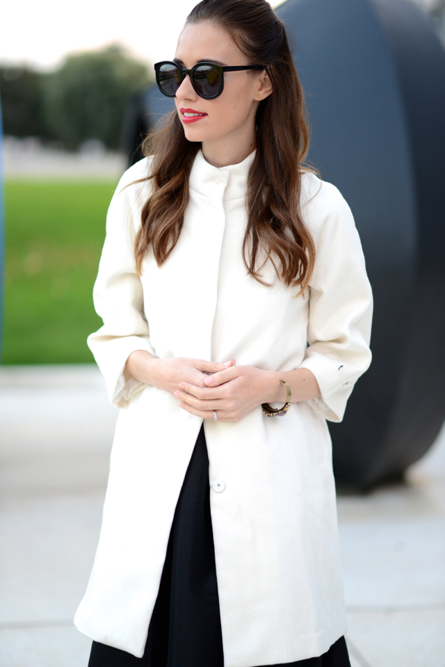 lip print top and black full skirt on M Loves M @marmar