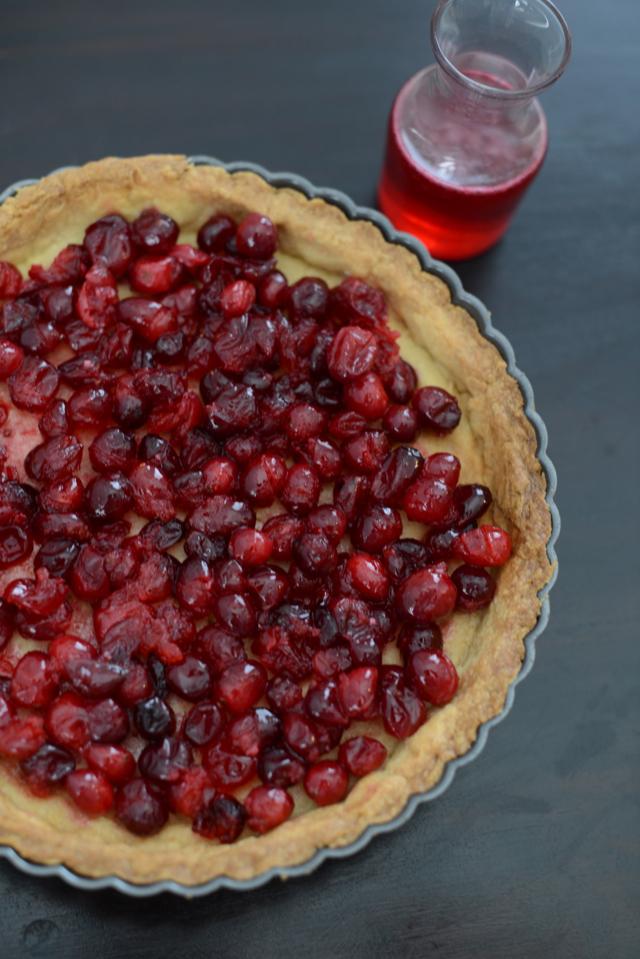 making a brown sugar cranberry tart M Loves M @marmar