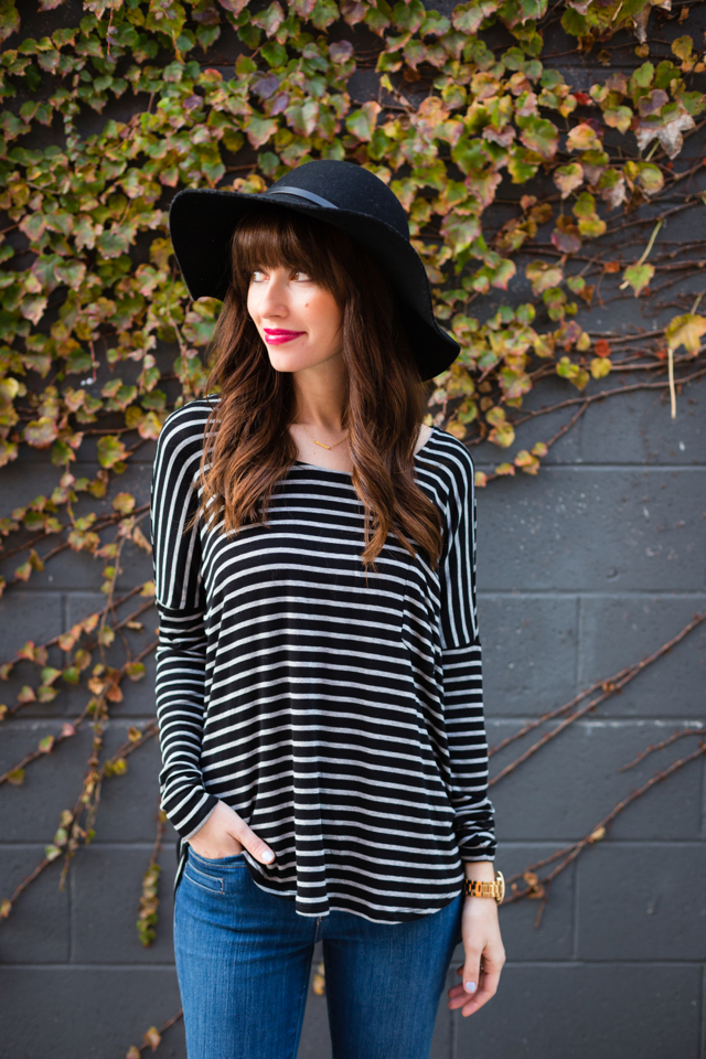 long sleeved striped top M Loves @marmar