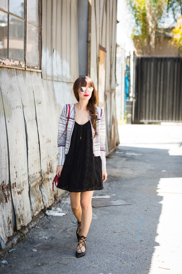 how to wear a little black dress during the daytime M Loves M @marmar