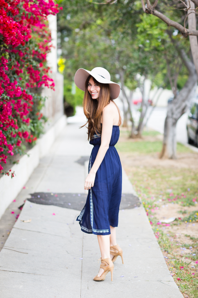 strapless and embroidered dress for spring on M Loves M fashion blogger @marmar