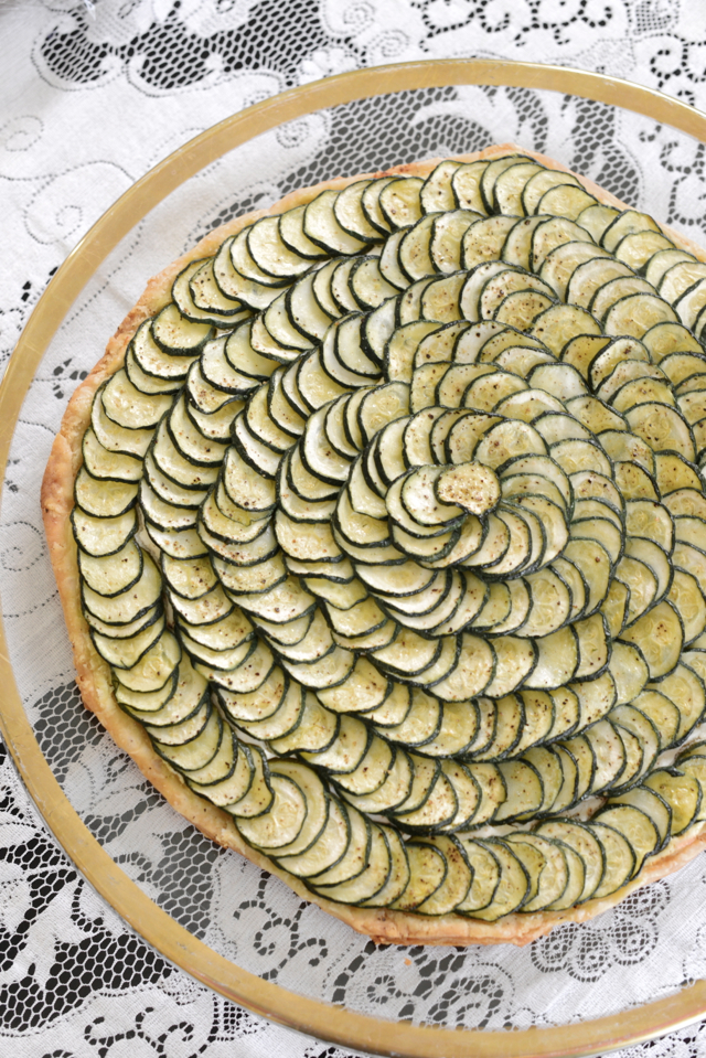 zucchini and goat cheese tart recipe M Loves M @marmar