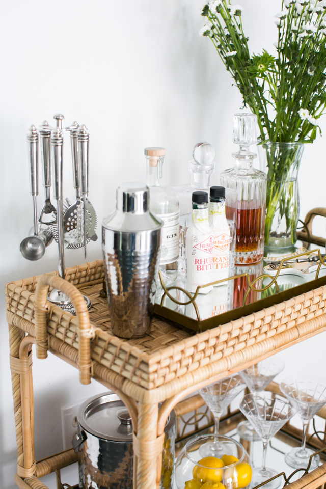 M Loves M Home Tour bar cart @marmar