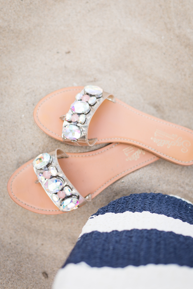 jeweled sandals for a beach day M Loves M @marmar