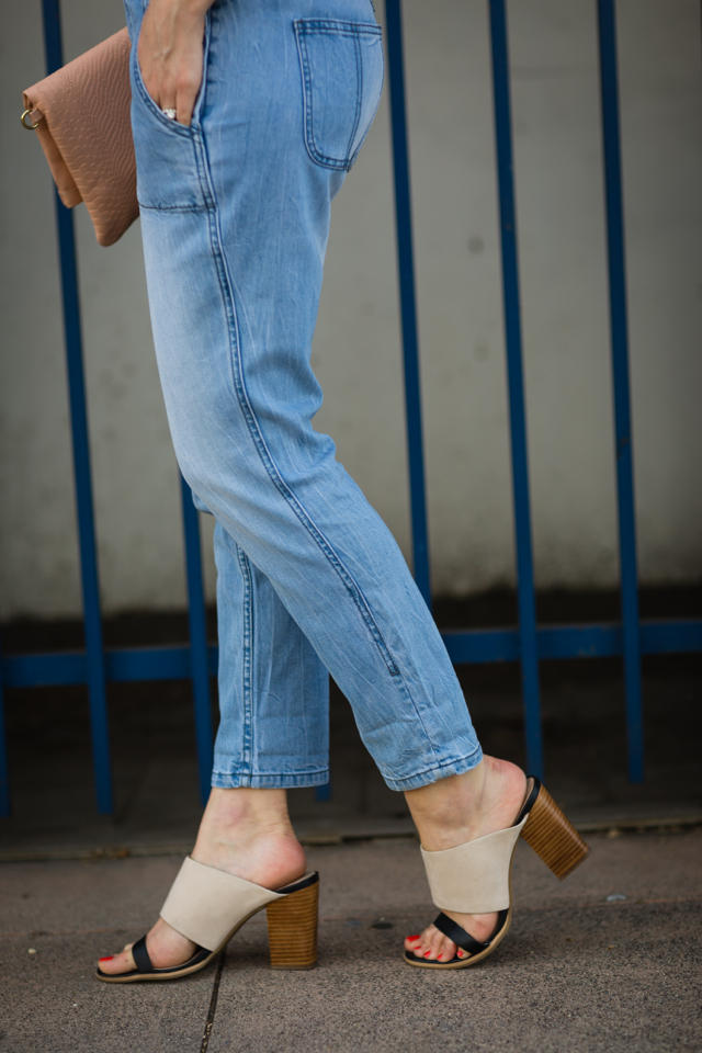 tapered overalls with two-tone mules M Loves M @marmar