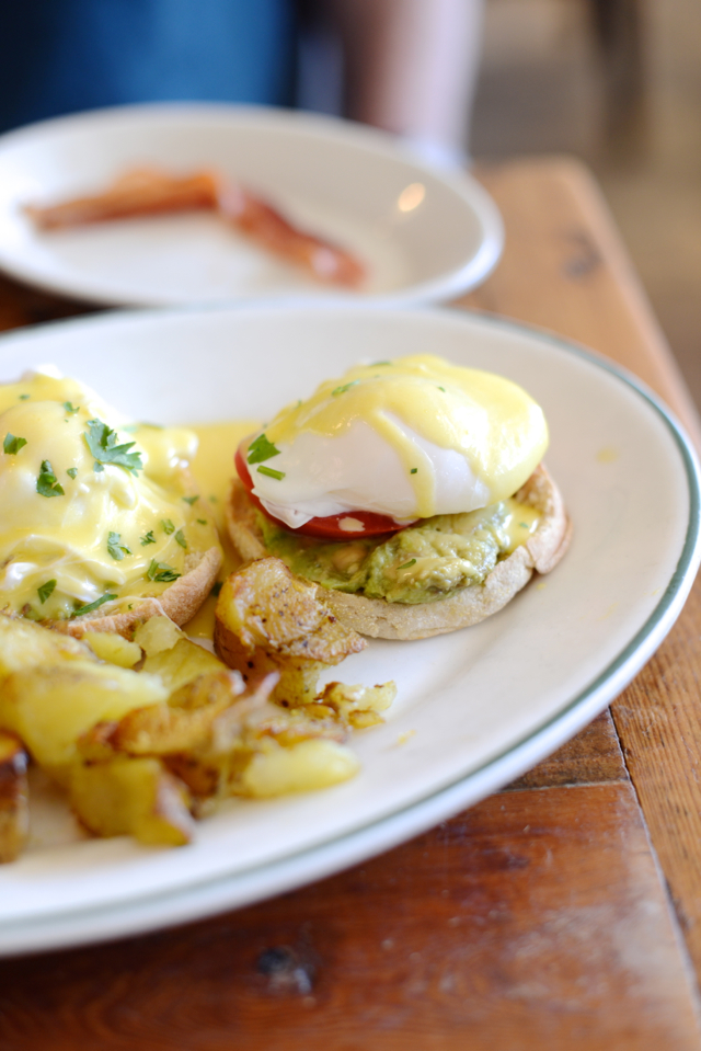 best vegetarian eggs benedict with avocado and tomato at Oddfellows Cafe in Seattle, Washington M Loves M @marmar
