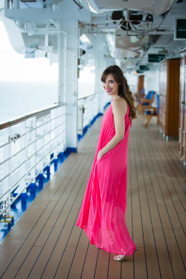 pink pleated maxi dress M Loves M @Marmar