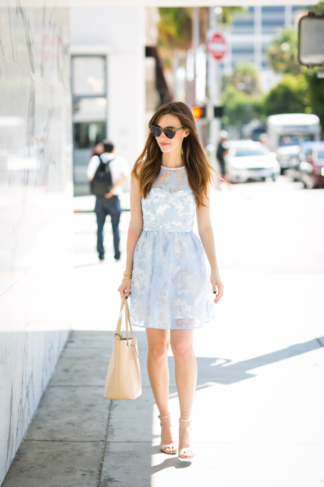 cute light blue floral summer dress M Loves M @marmar