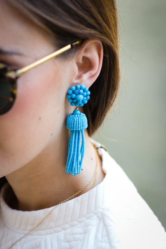 statement blue tassel earrings from Design Darling on M Loves M @marmar