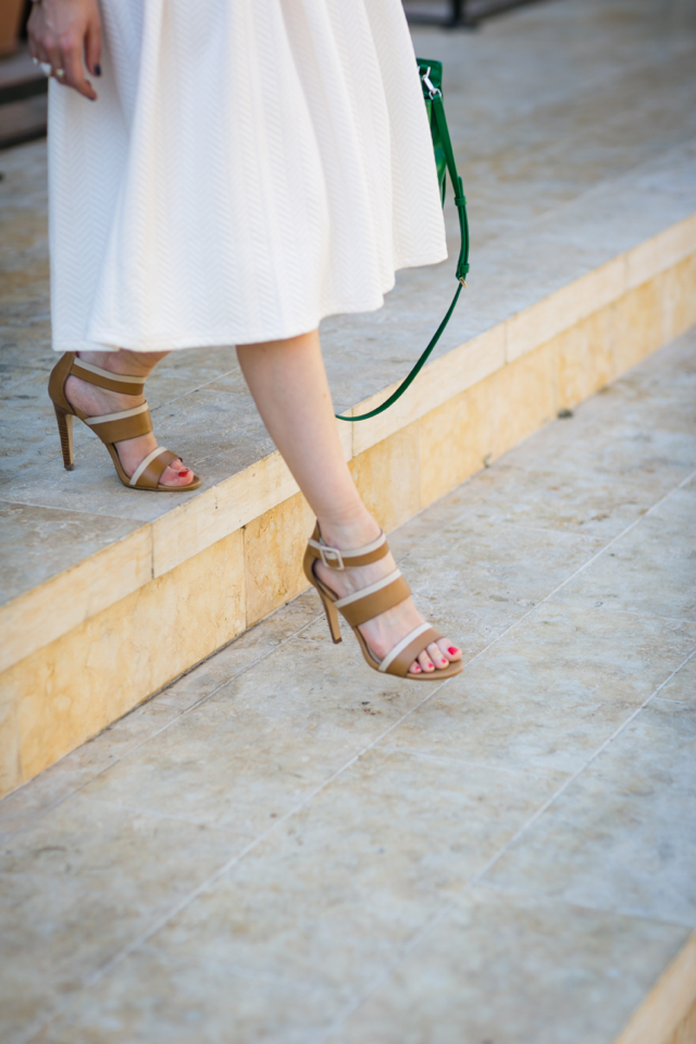 cream skirt with two tone isola brianna sandals M Loves M @marmar