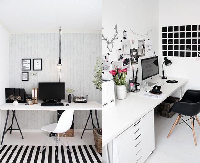 black and white office inspiration via M Loves M @marmar
