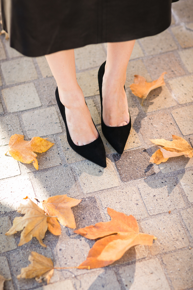 black suede kate spade licorice pointy pumps M Loves M @marmar