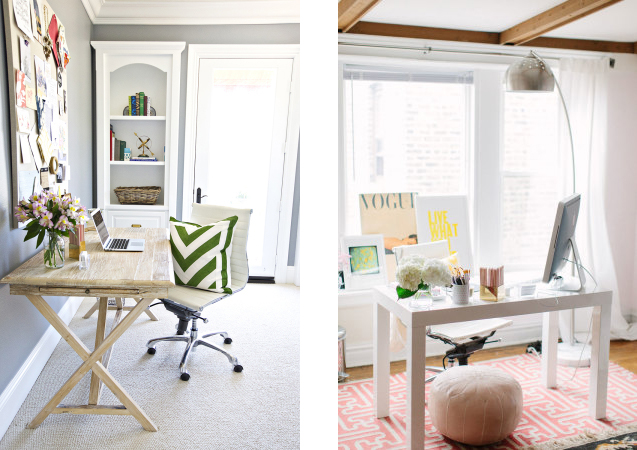 light and bright office inspiration M Loves M @marmar