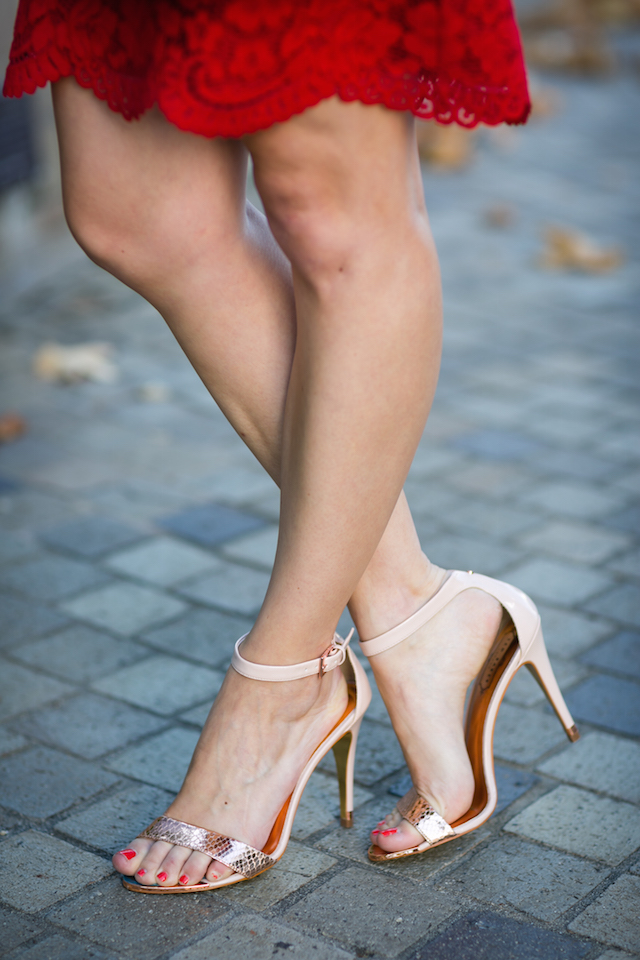 rose gold and nude sandal heels M Loves M @marmar