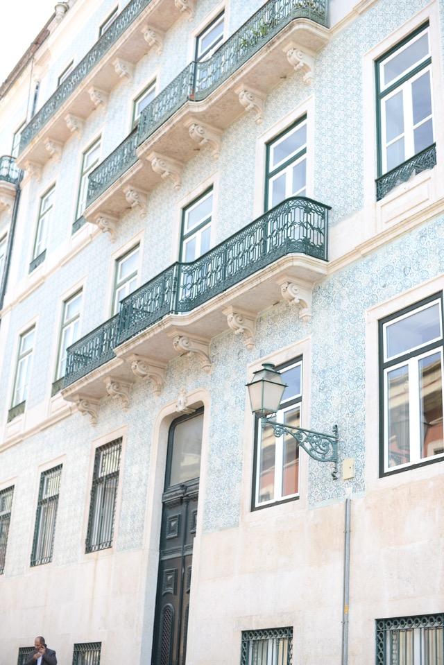 unique tile on buildings in Lisbon Portugal M Loves M @marmar