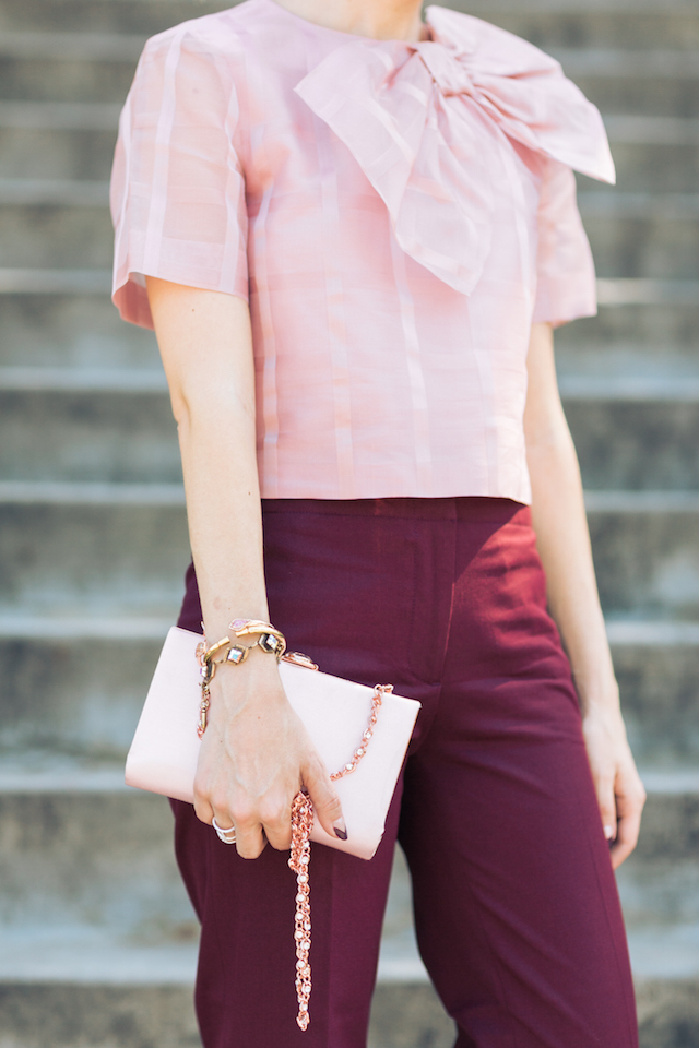 pairing pink and burgundy together M Loves M @marmar