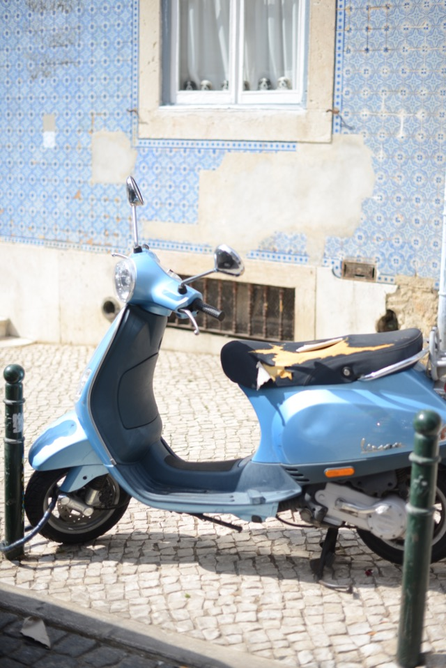 cute vespa in Lisbon Portugal M Loves M @marmar