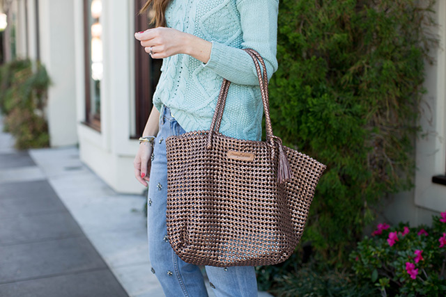 brown knit bag by M Loves M