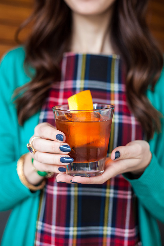 the bowline old fashioned cocktail with The Whaling Club and M Loves M