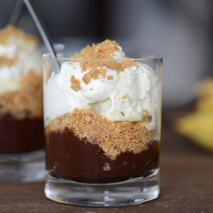 banana and chocolate cream pie parfaits M Loves M